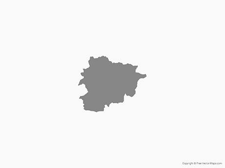 Free Vector Map of Andorra - Single Color