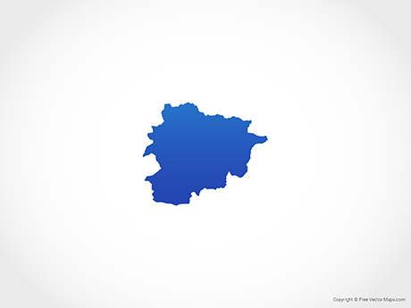 Free Vector Map of Andorra - Blue