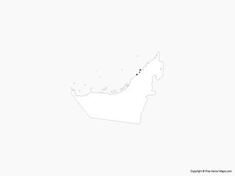 Free Vector Map of United Arab Emirates - Outline