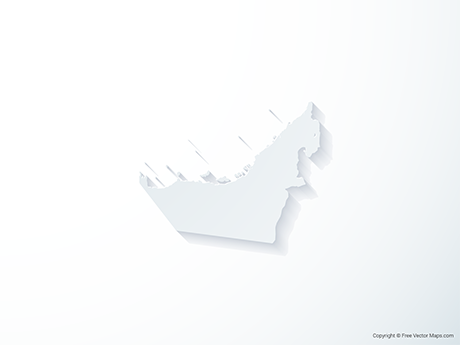 Free Vector Map of United Arab Emirates - 3D