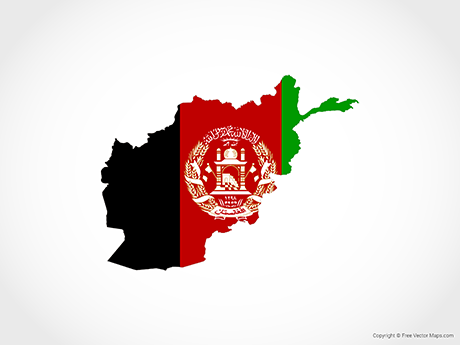 Free Vector Map of Afghanistan - Flag
