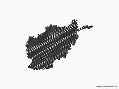 Free Vector Map of Afghanistan - Sketch