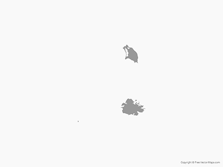 Free Vector Map of Antigua and Barbuda - Single Color