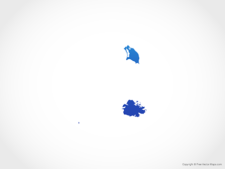 Map of Antigua and Barbuda - Blue