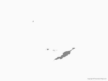 Free Vector Map of Anguilla - Single Color