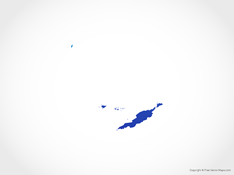 Free Vector Map of Anguilla - Blue