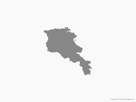 Free Vector Map of Armenia - Single Color