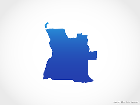 Free Vector Map of Angola - Blue