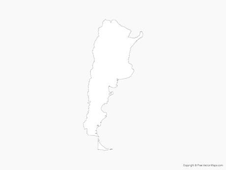 Free Vector Map of Argentina - Outline