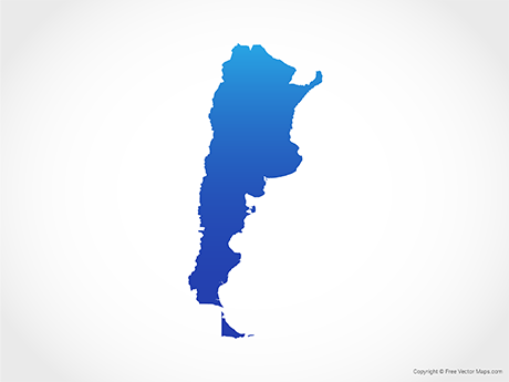 Free Vector Map of Argentina - Blue