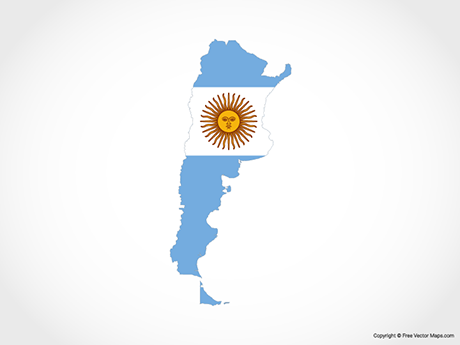 Free Vector Map of Argentina - Flag
