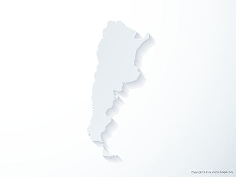 Free Vector Map of Argentina - 3D