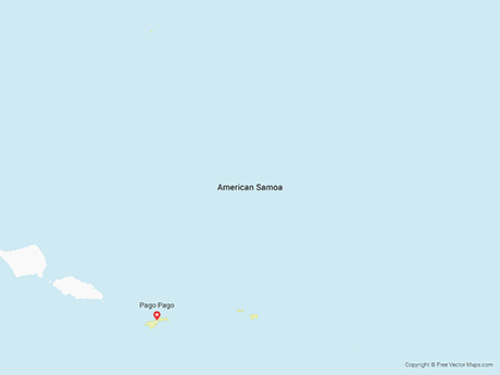Free Vector Map of American Samoa