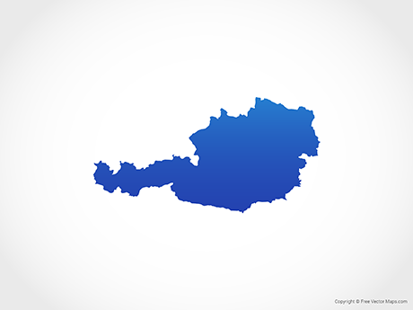 Vector Map of Austria - Blue | Free Vector Maps
