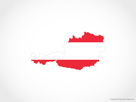Free Vector Map of Austria - Flag