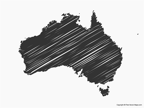Free Vector Map of Australia - Sketch