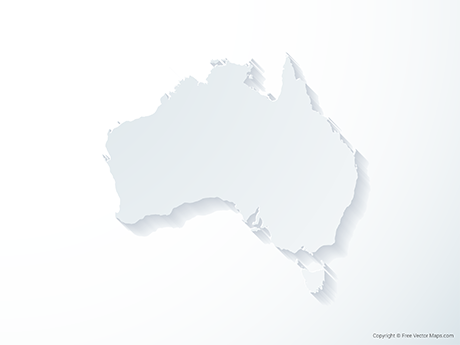 Free Vector Map of Australia - 3D
