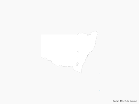 Free Vector Map of New South Wales - Outline