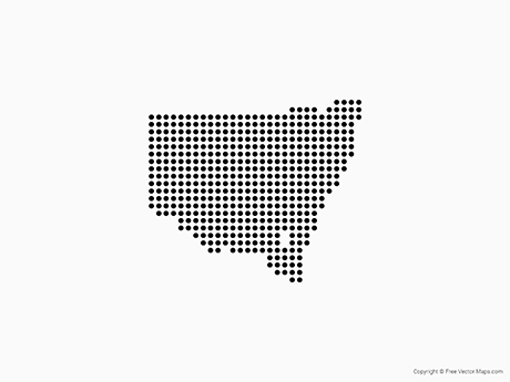 Free Vector Map of New South Wales - Dots