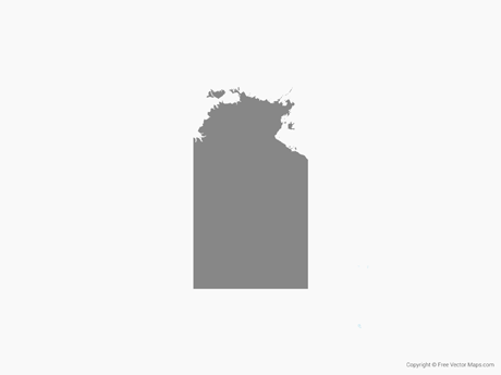 Free Vector Map of Northern Territory - Single Color