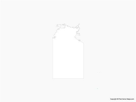 Free Vector Map of Northern Territory - Outline