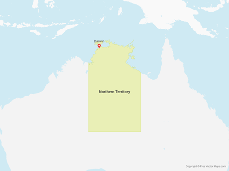 Map of Northern Territory