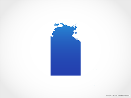 Free Vector Map of Northern Territory -Blue