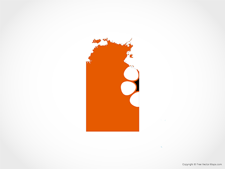 Free Vector Map of Northern Territory - Flag
