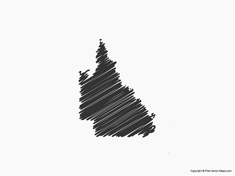 Free Vector Map of Queensland - Sketch