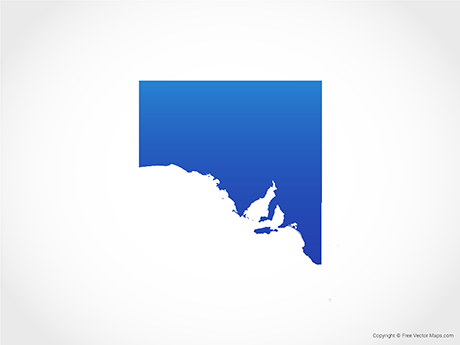 Free Vector Map of South Australia - Blue