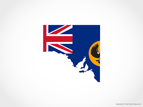 Free Vector Map of South Australia - Flag