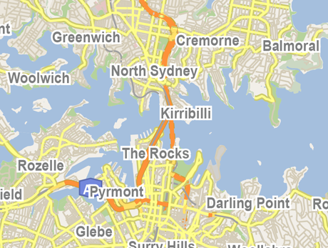 Vector Map of Sydney