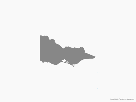 Free Vector Map of Victoria - Single Color