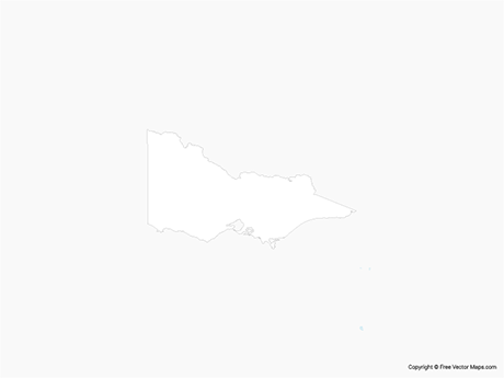 Map of Victoria - Outline