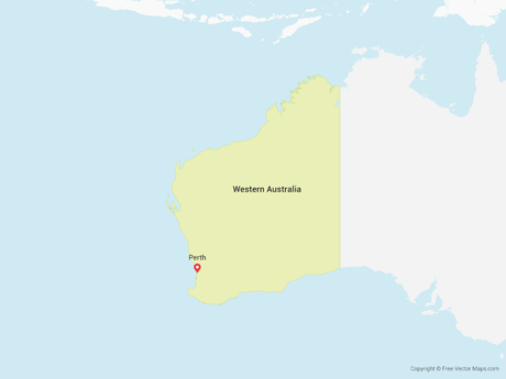 Free Vector Map of Western Australia