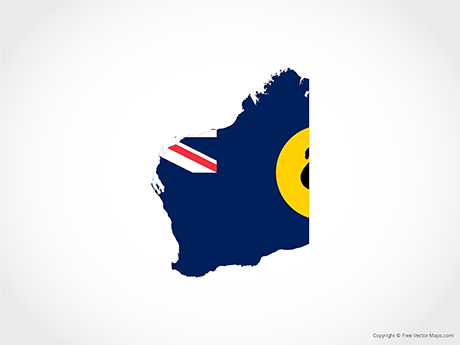 Map of Western Australia - Flag