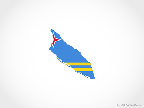 Free Vector Map of Aruba - Flag