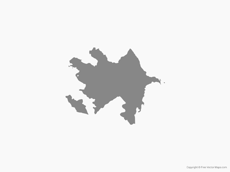 Free Vector Map of Azerbaijan - Single Color