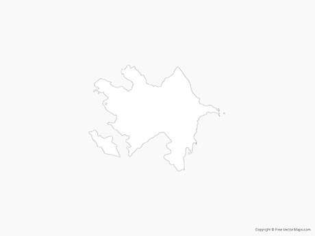 Free Vector Map of Azerbaijan - Outline