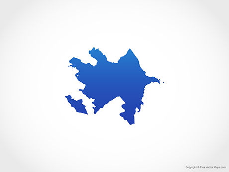 Free Vector Map of Azerbaijan - Blue