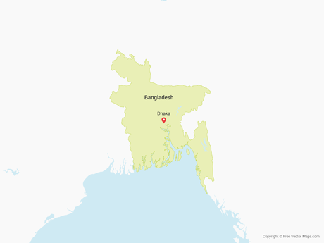 Free Vector Map of Bangladesh