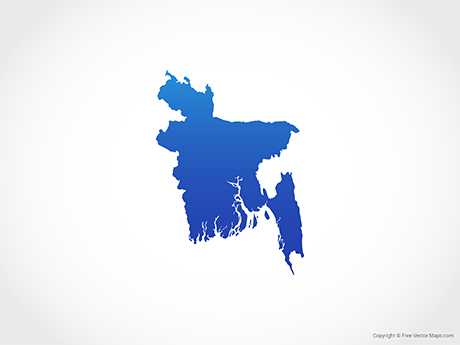 Free Vector Map of Bangladesh - Blue