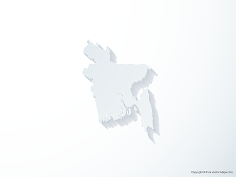 Free Vector Map of Bangladesh - 3D