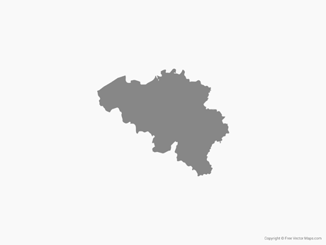 Map of Belgium - Single Color