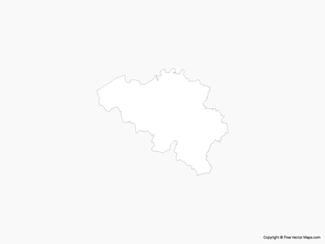 Free Vector Map of Belgium - Outline