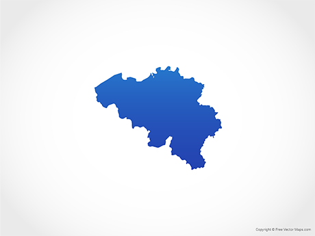 Free Vector Map of Belgium - Blue