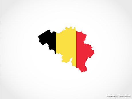 Free Vector Map of Belgium - Flag