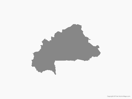 Free Vector Map of Burkina Faso - Single Color