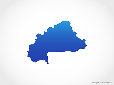 Free Vector Map of Burkina Faso - Blue