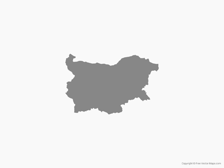 Free Vector Map of Bulgaria - Single Color